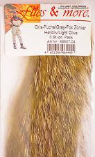 Gris zorro Gray Fox zonker 3 x 17 cm x 6 mm light Olive
