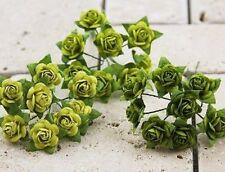 "Prima 535551 ""Mini Rose Lime""  24  Pieces  NEW"