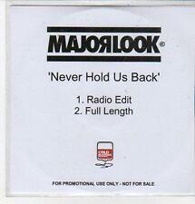 (CZ292) Major Look, Never Hold Us Back - DJ CD
