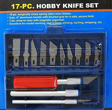 17 Piece Hobby Knife Set exacto style razor for model making, crafts etc. Knives