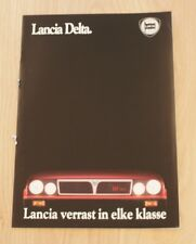 LANCIA DELTA  BROCHURE / PROSPEKT 1988