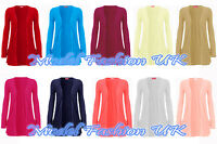 New Ladies Womens Drop Pocket Boyfriend Cardigan Assorted Colours and Size 10-18