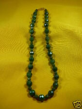 (#V308-5) Green nephrite jade Beads Canada bead Necklace JEWELRY