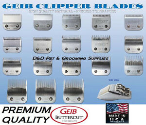 GEIB BUTTERCUT STAINLESS STEEL BLADE*Fit Oster,Moser,Wahl,Andis AG/BG/A5 Clipper