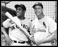 Stan Musial  Willie Mays Photo 8X10 Cardinals Giants 1961 - Buy Any 2 Get 1 FREE