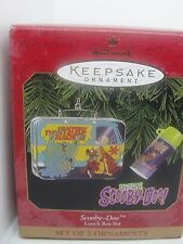 1999 SCOOBY-DOO LUNCH BOX SET HALLMARK KEEPSAKE ORNAMENT