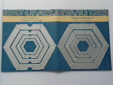 Tattered lace essentials Hexagon Box maker base & Lid  die set  etl68