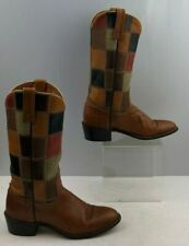 Ladies Acme Brown Leather Western Boots Size: 6.5A