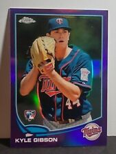 2013 Kyle Gibson Topps Chrome Purple Refractor RC #87 - Twins