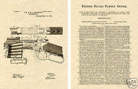 WINCHESTER 1892 LEVER ACTION RIFLE PATENT Art Print READY TO FRAME! Browning Gun
