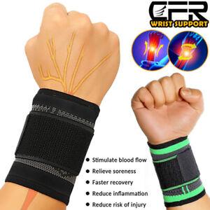 Wrist Hand Brace Support Compression Strap Carpal Tunnel Sport Arthritis Running