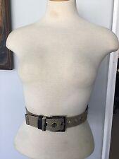 Dolce And Gabbana Black Leather Belt Size 28