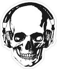 PEGATINA STICKER AUFKLEBER SKULL HEADPHONES CALAVERA HIPSTER DJ MUSIC