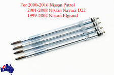 Set of 4 NEW Glow Plugs For NISSAN PATROL GU NAVARA D22 ZD30 DDTI Turbo Diesel