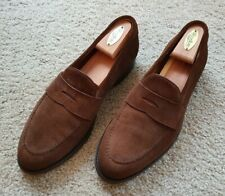 Carlos Santos Brown Suede Penny Loafer UK8 US9 worn once(Crockett Jones Carmina)