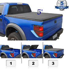 5 ft. Truck Bed Cover For 05-20 Frontier 09-12 Equator Pickup Soft Trifold Cover