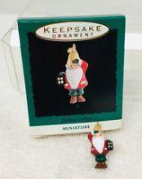 1993 Lighting a Path Gnome Mini Hallmark Christmas Tree Ornament MIB Price Tag