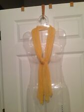 Lady Women's Fashion Elegant Yellow Long Scarf Crinkle Fabric