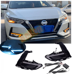 Pair 3 Color LED DRL Daytime running light package kit For Nissan Sentra 2020