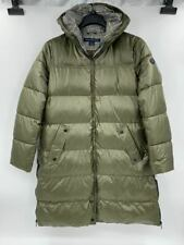 New French Connection womens puffer jacket hooded Sz XL olive coat Q555