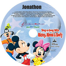 Personalized Mickey Mouse CD - child's name 86X  by the REAL voices!  MP3 avail.