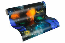 "34066-1) Papier Tapete Simply Decor"" Weltall Planeten Sterne Leuchtet im Dunkeln"