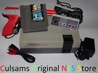 Original Nintendo NES System Console, New 72 PIN, Super Mario Duck Hunt & Gun
