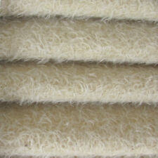 "1/6 yd 300S/CM Oatmeal INTERCAL 1/2"" Ultra-Sparse Curly Matted Mohair Fabric"