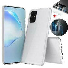 For Samsung S20+ S20 Ultra 5G Slim Hybrid Clear Case Cover+Camera Lens Protector
