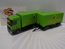 """Wiking 0573 11 # MB Actros Wechselkofferhängerzug """" Hanstrans Transport """" 1:87"""