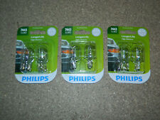 (3) NEW PHILIPS 7443LLB2 LONGER LIFE PAIR OF TAIL LIGHT BULBS 13.5V PACKS OF 2