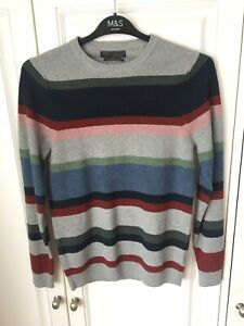 M & S Cotton Blend Mixed Colour Jumper