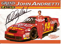1994 JOHN ANDRETTI signed NASCAR INDY 500 COKE 600 DOUBLE PHOTO CARD POSTCARD wC