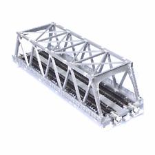 """Kato 20-437 N Scale 248mm (9 3/4"""") Double Track Truss Bridge Silver"""