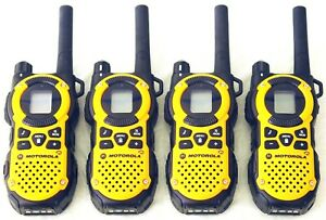 4 Motorola MT350 AA FRS GMRS 2-Way Radio Walkie Talkie Carrying Case iVOX Weater