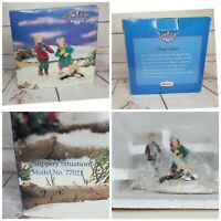Vintage 1997 Lemax Memory Makers Collection Hand Crafted Slippery Situation
