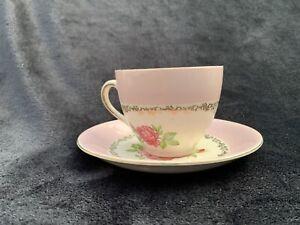 Vintage Alfred Meakin Cup & Saucer Tea Set - Rose with Gold
