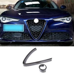 For Alfa Romeo Giulia 2017-21 Carbon Fiber Front Bumper Mesh Grill Grille Frame