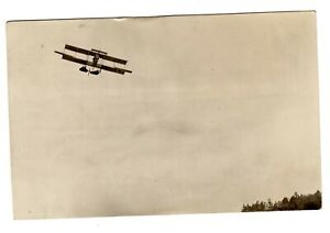 c.1911 Airplane Flying Real Photo Postcard, RPPC