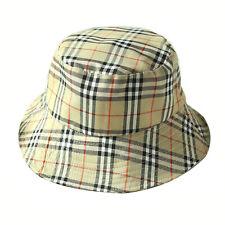 Summer Sunshade Cap Foldable Flat Top Plaid Fisherman Bucket Hat RUE 21