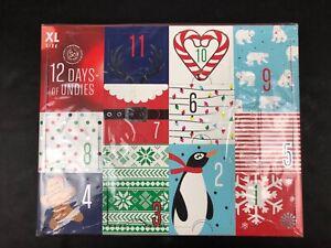 SO 12 Days of Undies Junior Cheeky Bikini Panties New Advent Calendar Christmas