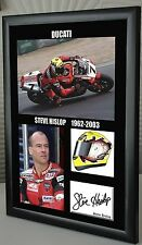 "Steve Hislop Motor Cycle Framed Tribute Canvas Print Signed ""Great Gift"""