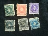 lot N°115 6 timbreS ESPAGNE ROI ALFONSO
