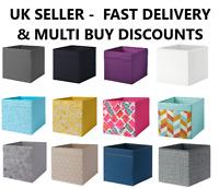 IKEA Drona Storage Box Canvas Shelf Folding Organiser Toy Boxes UK SELLER