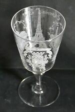 Verre cristal souvenir Exposition universelle de 1889 tour Eiffel, Trocadero ..