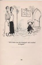 Ronald Searle Vintage 1953 Original BOOKPLATE-St Trinians
