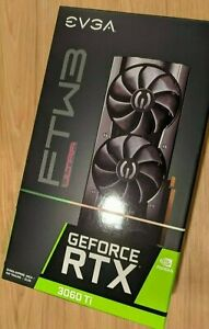 New Sealed EVGA GeForce RTX 3060 Ti FTW3 ULTRA GAMING 8GB GDDR6 Graphics Card