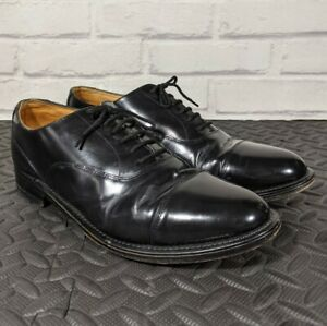 Oxford Leather Shoes, Goodyear Welted, Metal Heel Protector Size 8 BLK