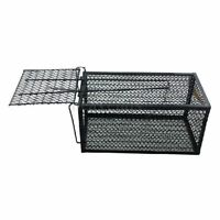 Humane Rat Cage Trap Live Animal Catcher No Poison Pest Control Black E2J5