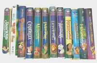 Lot of 12 Walt Disney VHS Tapes Clamshell - The Classics Masterpiece Childrens